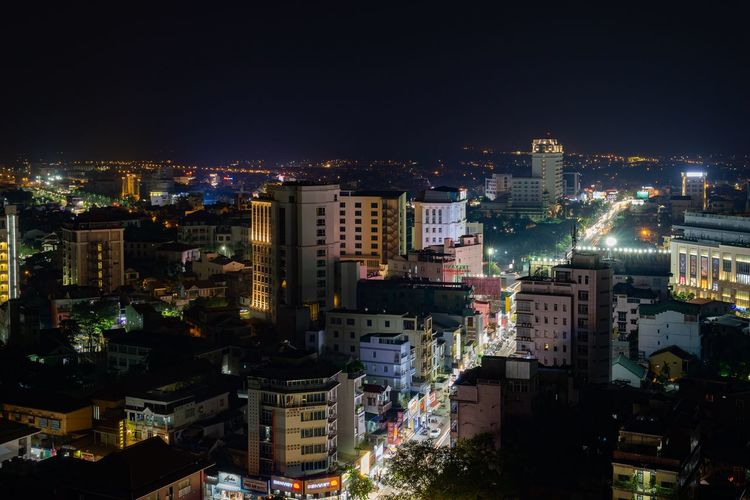Night cityscape of Hue. City City At Night Cityscape Huế Night City Night Lights Nightphotography Vietnam Apartment Architecture Building Building Exterior Buildings Built Structure High Angle View Illuminated Luxury Night Night View Nightlife Office Building Exterior Outdoors Residential District Skyscraper