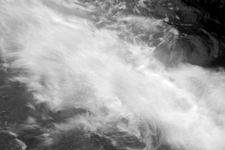 Turbulent Waters Abstract Abstract Backgrounds Backgrounds Beauty In Nature Black And White Blackandwhite Flowing Flowing Water Full Frame Motion Nature Pattern Water