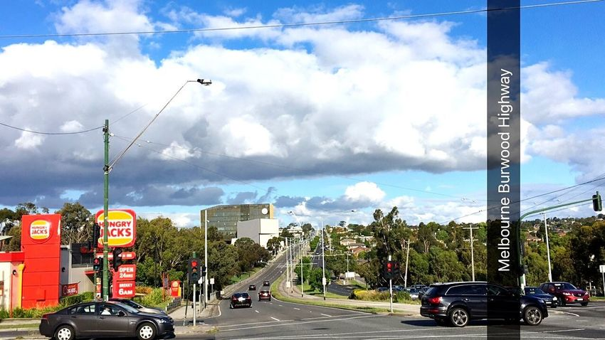 Deakin University Burwood Victoria Melbournephotos Australia First Eyeem Photo Car Tram Blue Sky Cloudy