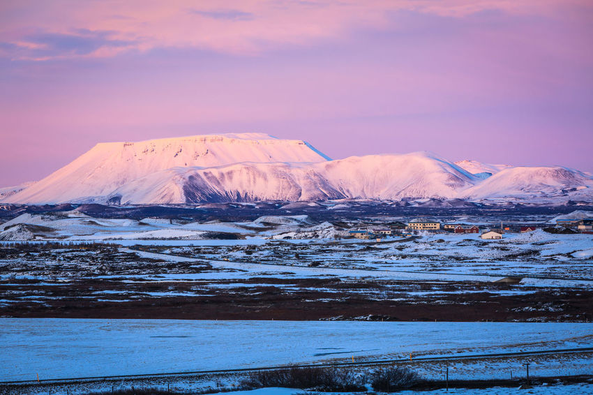 Beauty In Nature Cold Temperature Colours Day Frozen Iceland Landscape Mountain Nature No People Outdoors Scenics Sky Snow Snowcapped Mountain Sunset Tranquil Scene Tranquility Travel Destinations Winter