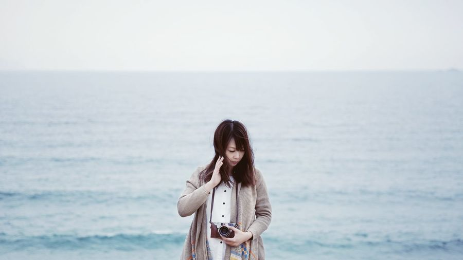 Ocean Sea Sky Minimalism HongKong EyeEm Nature Lover Nature Nature_collection Girl Blue Wave