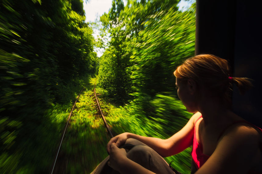 Childhood Day Dreaming Endless Leisure Activity Lifestyles Motion Nature One Person Oravita - Anina Outdoors People Rails Real People Romania Side View Story Summer Tales Train Travel Tree Trip Young Adult Young Women Live For The Story