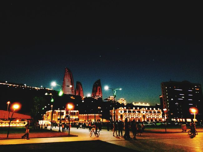 Baku Azerbaijan Bulvar Night Amazing View Promenade Habibiphotos ?