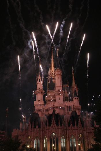 Architecture Building Exterior Disney Disneyland Firework Display Fireworks Night Sleep Beauty Sleep Beauty Castle