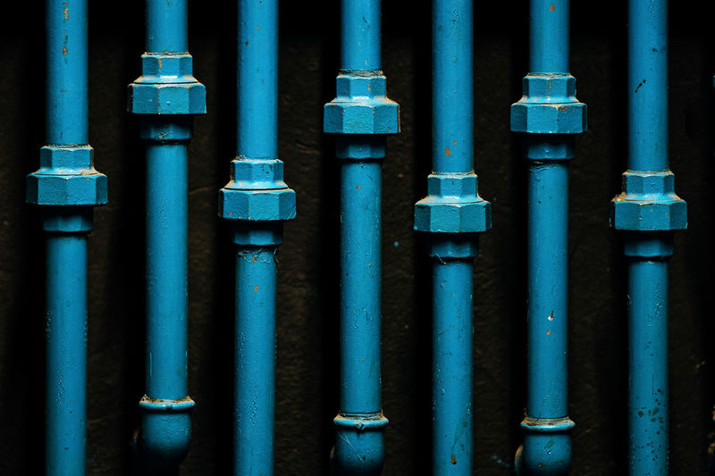 tubes Backgrounds Blue Close-up Day Factory Full Frame Indoors  Metal No People Pipe - Tube Pipeline Water Pipe BYOPaper!