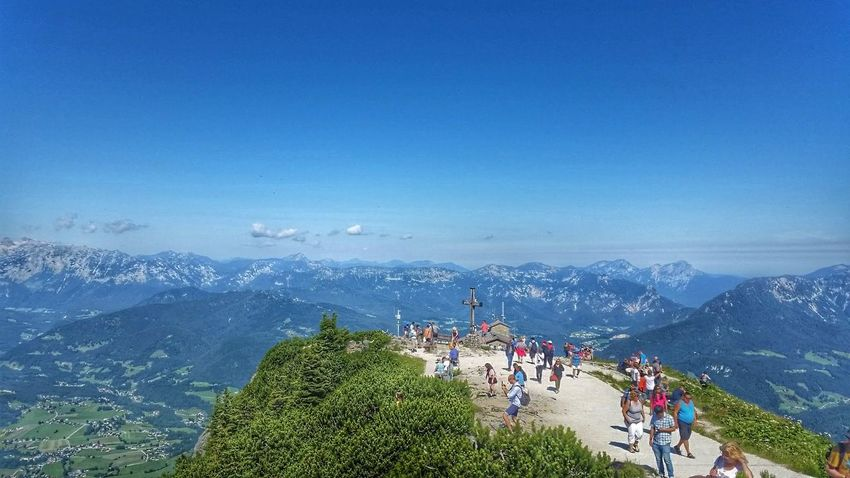 Berchtesgaden Mountain Beauty In Nature People Nature Outdoors Mountain Range Scenics Day Large Group Of People EyeEm Selects Beauty In Nature Kehlsteinhaus (Eagle's Nest) Architectural Column Historical Building Historical Monuments Travel Destinations