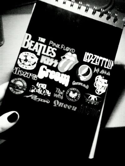 Rock'n'Roll Notebook Led Zeppelin The Beatles Pink Floyd The Rolling Stones Queen Cream The Who The Doors