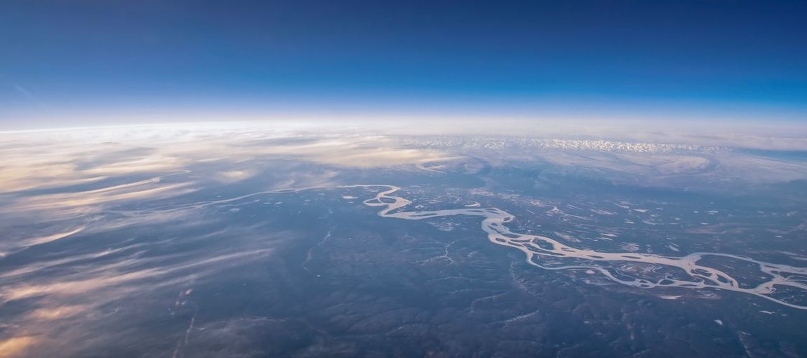 Siberia Aerial View Sky Scenics - Nature Beauty In Nature Nature Tranquility Cloud - Sky Blue No People Tranquil Scene Environment Day Landscape Land Outdoors Idyllic High Angle View Meteorology