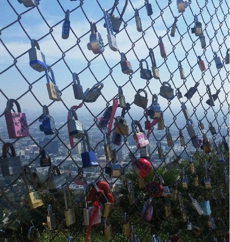Runyon Canyon Park Locks Fence ThisView Los Angeles, California Runyoncanyon Hiking Saturday Weekend Activities EyeEm Nature Lover Nature