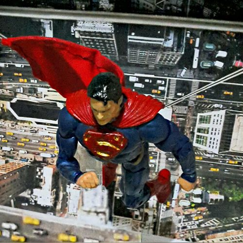 UP UP & Away Toyphotography Actionfigures Toys Manofsteel Superman Clarkkent Justiceleague