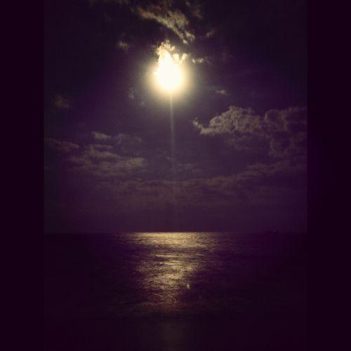 Moonn Night Beach Moonlight Path Eye Em Around The World