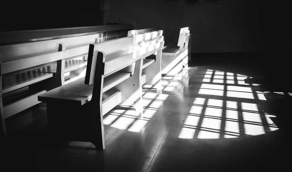 The Lutheran Church in Zelenogorsk Bench Candle Cross LINE Lutheran Church Architecture Building Built Structure Chair Domestic Room Empty Flooring Furniture Indoors  Llight Lutheran Religion Seat Shadow Sunlight Table Window Zelenogorsk