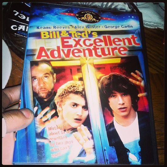 Bill and teds excellent adventureKeanureeves Alexwinter GeorgeCarlin 1988 sandemaseddievanhallenmyfavoritemoviebeexcellenttoeachotherpartyondude