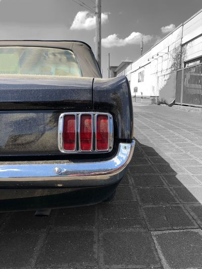 Spotted this '65 Ford Mustang last week in Nürnberg. V8 Dust Rear Lights Mustang Transportation Car Land Vehicle Motor Vehicle No People