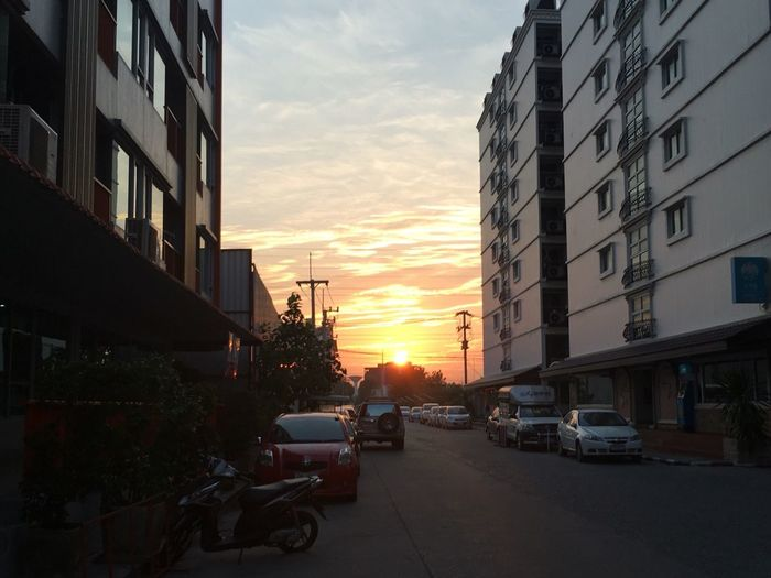 Built Structure Street Sunset Sky Outdoors No People Mood Landscape Beauty In Nature