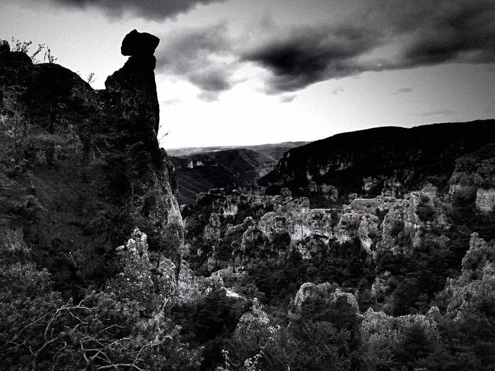 Bnw_dramatic_landscapes Bnw_friday_eyeemchallenge Sky Rock - Object Mountain Nature Tranquility Tranquil Scene Beauty In Nature Scenics Landscape Outdoors