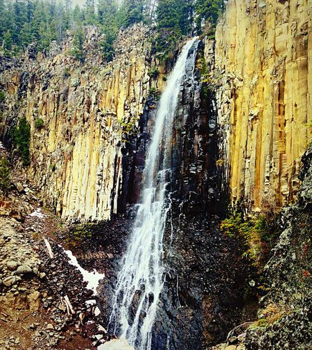 Life Water Water Falls Mountain Waterfalls Montana Beauty In Nature