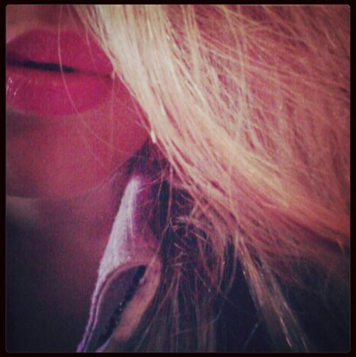 Lips Happyness Hair Blonde #funny #home #sweet