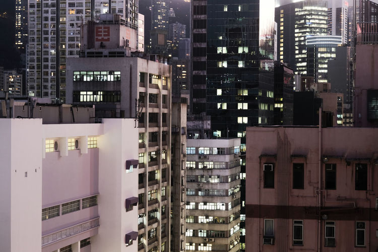 Full frame shot of buildings in city