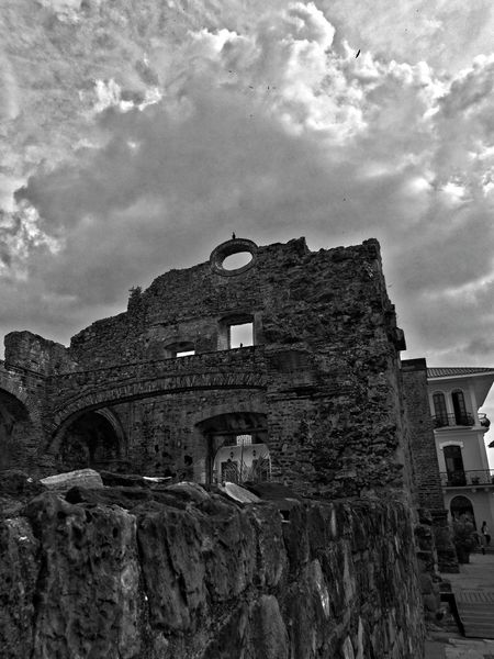 Old Ruin Architecture History Sky Ancient Ruined The Past Travel Destinations Built Structure Abandoned Building Exterior Churchtower Church Architecture Church City Street Casco Viejo Panama Panama City Panamá Blackandwhite Black And White Street Photography Casco Viejo Eyem Best Shots Eye4black&white  Eye4photography