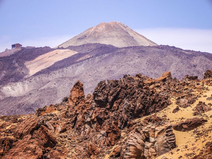 Der Pico del Teide auf Teneriffa ist der höchste Berg Spaniens Pico Del Teide Tenerife Canary Islands Sky Nature Land Tranquility Scenics - Nature Mountain Beauty In Nature Landscape Travel Destinations No People Clear Sky The Great Outdoors - 2018 EyeEm Awards