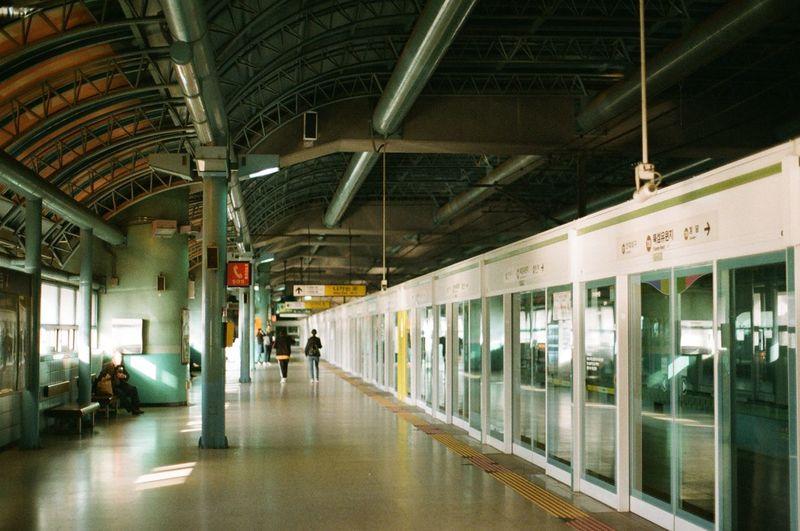 Seoul Subway Train Train - Vehicle Rail Transportation Railroad Station Platform Railroad Station Architecture