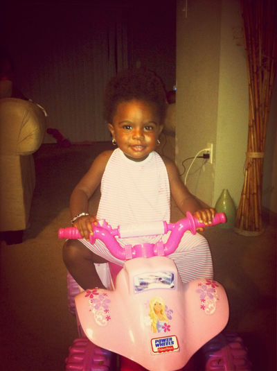 Youngin on her banshee ridin out lol #BikeLife
