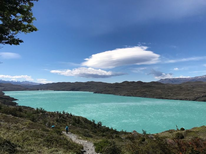 Water Sky Beauty In Nature Scenics - Nature Cloud - Sky Nature Tranquility Non-urban Scene Tranquil Scene Blue Day Tree Idyllic Outdoors Land Mountain Turquoise Colored