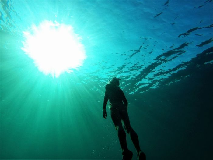 Freediving in Mallorca Breath Freediver Mallorca Mediterranean  Mediterranean Sea Adventure Beauty In Nature Blue Extreme Sports Freedive Freedivewithlove Freediving Mermaid Nature Ocean Scuba Diving Sea Sea Life Silhouette Sunlight Sunset Swimming UnderSea Underwater Water