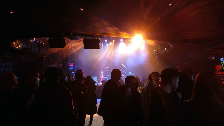 At the show Arts Culture And Entertainment Audience Large Group Of People Popular Music Concert Performance Stage - Performance Space Silhouette Crowd Music Stage Light Montreal Rocks Performing Arts Event Rockshow