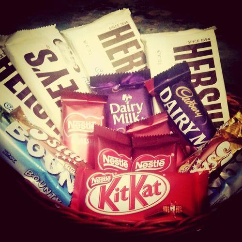 Chocolates♥♥ Yummilicious Enjoying Life Hersheys ♥#dairymilk#kitkat#nestle#bonty#5star