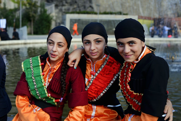 Girls dressed in Georgian national attire participating in National Attire and Martial Arts Day, held once per year in the capital of Georgia. Beauty Celebration Colourful Dress DSLR Friendship Georgian Group Of People National Dress Outdoors Park Photojournalism Public Event Red Tamar Mirianashvili Tbilisi Traditional Clothing Warm Clothing Women Women Around The World Women Of EyeEm Young Adult Young Women