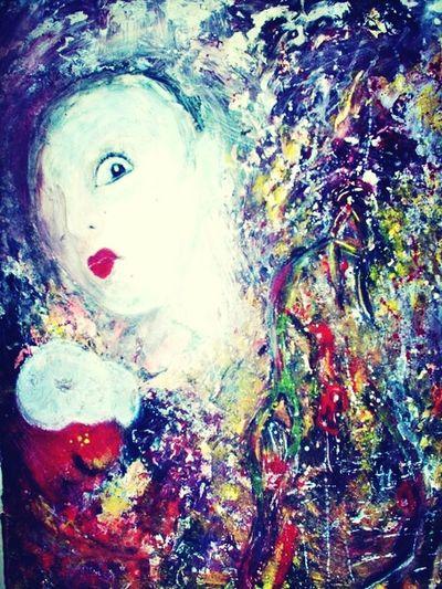 Art Oil Face Of Fear Art Gallery