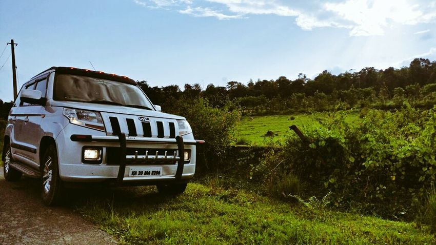 Mahindra Tuv300 Beast Sky Tourism Landscape Nature Land Vehicle Travel Journey Roadtrip Funrides Madikeri Coorgdiaries Coorg Chilling ✌ Miles Away