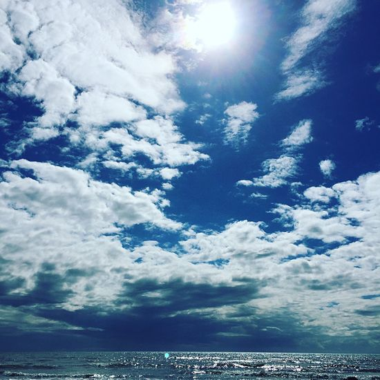 SW Scotland skies Sea Sky Cloud - Sky Beauty In Nature Nature Scenics Water Tranquility Sunlight Horizon Over Water No People Tranquil Scene Outdoors Blue Day SW Scotland