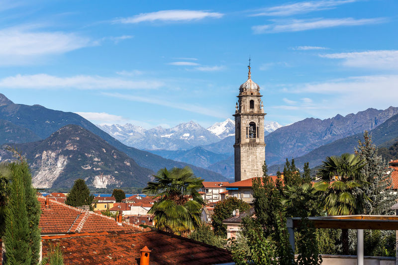 Impressions from Verbania, Italy Italy Italien Verbania Lago Maggiore Lago Maggiore, Italy Lake Lake View Church And Mountains Church Snow Covered Campanile Alps Mountain Panorama Mountain Built Structure Architecture Building Exterior Building Tree Plant Sky Nature Outdoors