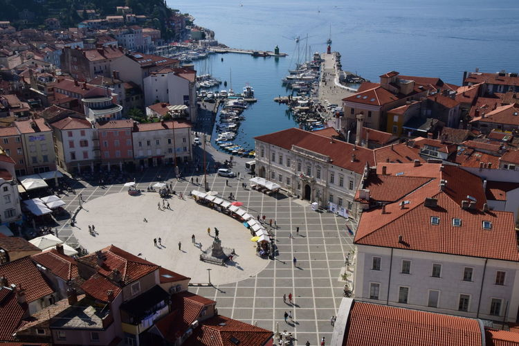 Piran, a beautifull turistic town on the slovenian coastline (adriatic sea) with it's reach history and many must-go places to visit and see. Curch Of Piran Giuseppe Tartini Gulf Of Triest Harbour Of Pesaro Panorama Panoramic Photography Panoramic View Piazza Tartini Piran Piranha Port Of Piran Religion, Church, Sect, Denomination, Belief, Ideology, Creed, Teaching, Doctrine, Moslem, Islam, Roof Rooftop Scenery Rooftop View  Rooftops Slovenia Slovenia Scapes Slovenia Seaside Slovenian Coastline Sloveniatrip Slovenija Tartini Square Town Tržaški Zaliv