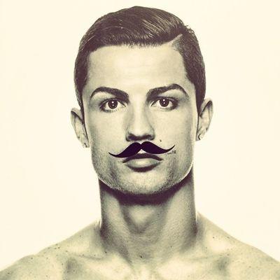 Hihihi ;) CR7 - Cristiano Ronaldo. #bbb #bbb2014 #fashion #fashionweek #berlin #cr7 #ronaldo #mustache