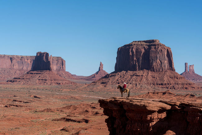 Monument valley landscape on a sunny day Holiday Landscape_Collection Lost In The Landscape Monument Valley Monument Valley Tribal Park Travel Photography Utah Blue Sky And Clouds Sunny Day Travel Destinations Full Frame Shot Full Frame