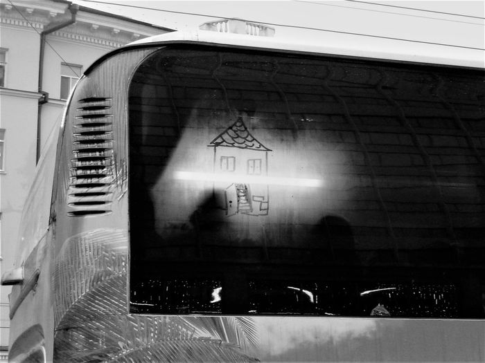 drawing on glass Black And White Friday Bus Bus Window Children Drawing Communication Day Drawing Drawing On Glass No People Transportation Window Window Drawing