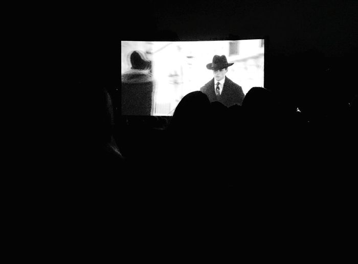Day 326 - Freiluftkino Berlin Blackandwhite Kino Cinema Screen Open Air 365project 365florianmski Day326