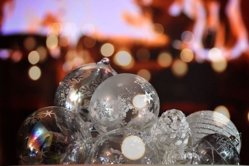 Close-up Christmas Holiday Decoration Christmas Decoration Christmas Ornament Sphere