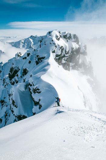 Epic Mountaineering SONY A7ii Adventure Beauty In Nature Cold Temperature Explore Extreme Sports Freeride Landscape Mountain Mountain Range Nature Outdoors Scenics Ski Skitouring Snow Snowcapped Mountain Swiss Alps Swiss Mountains Switzerland Weather White Color Winter First Eyeem Photo EyeEmNewHere