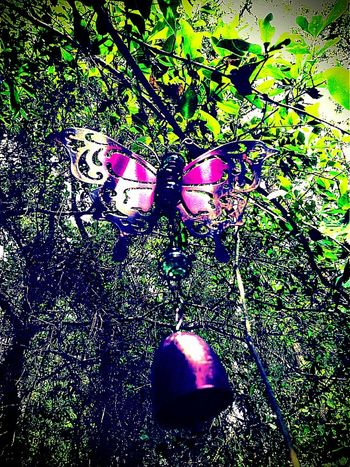 Fly Butterfly Iron Butterfly Outdoor Decor Outdoor Decorations My Garden Nature Purple Purple Iron Bell Windchime Windchimes A Tay In Da Win Art Is Everywhere