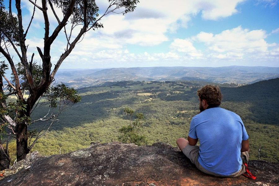 Thinking Katoomba Bluemountains Photooftheday Camping Australia