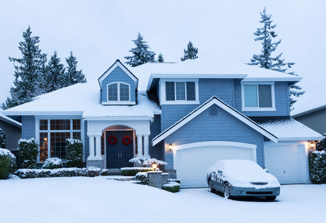 Home during winter holidays Architecture Building Exterior Built Structure Christmas Cold Temperature Day Holiday House No People Outdoors Residential Building Snow Tree Window Winter Xmas