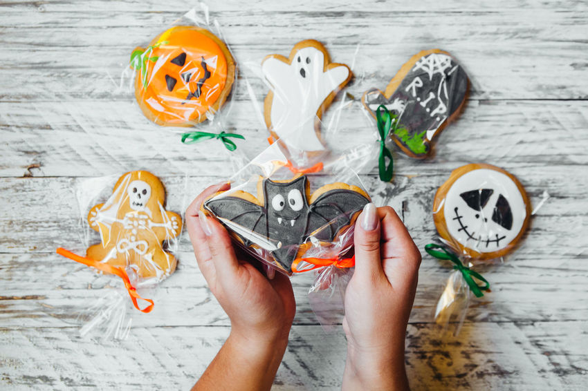 Funny Halloween Halloween_Collection Sugar Food For Children Gifts Gingerbread Gingerbread Cookie Scary Face Sweets