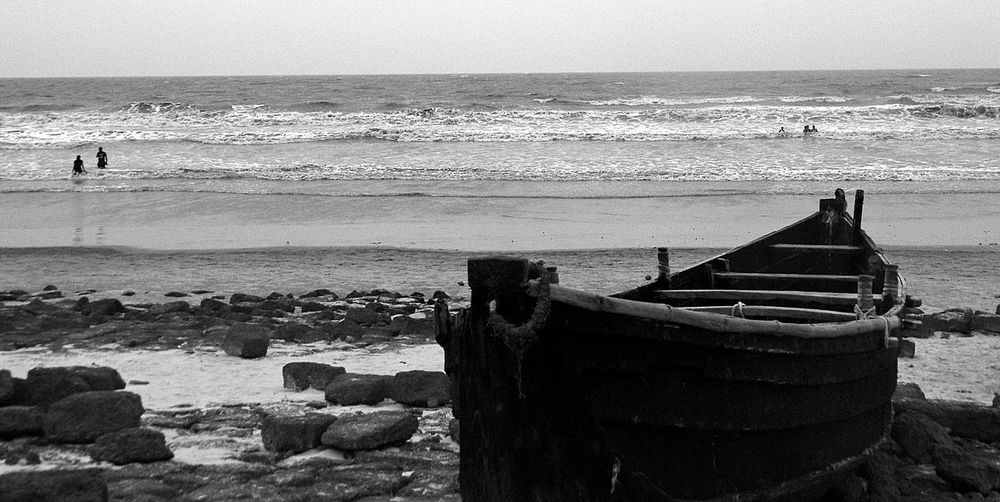 Ready to Sail on Bay Of Bengal - Digha Sea Beach, West Bengal (India). Beach Black And White Boat Coastline Digha Escapism Getting Away From It All Horizon Over Water Loneliness Lonely Nautical Vessel Ocean Outdoors Rippled Rock Sand Sea Sea Beach Shore Still Life Summer Vacations Water Wave Weekend Activities
