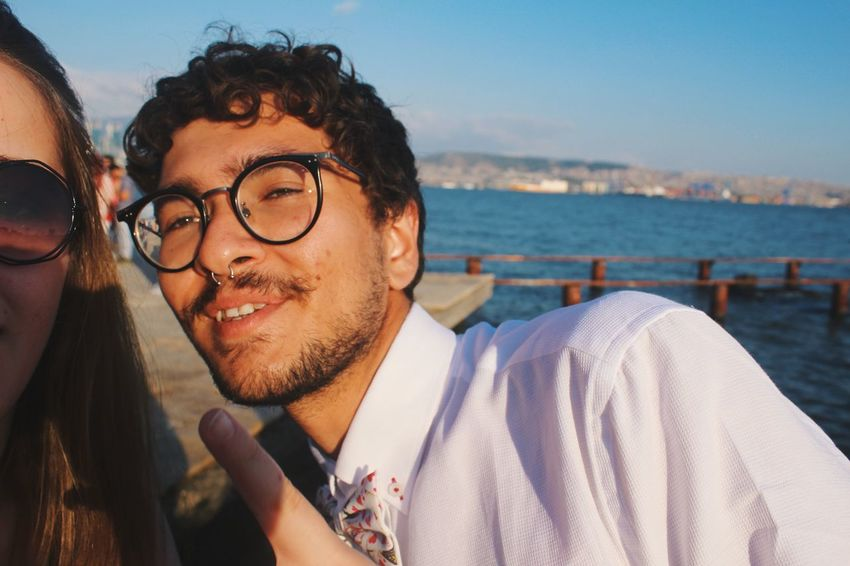 Moment from life?? I don't know. I just wanna share a couple non-artsy photos! Glasses Headshot Lifestyles Leisure Activity Eyeglasses  Water Portrait Young Men Facial Hair Young Adult Smiling Beard Outdoors Sea One Person Real People Front View