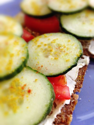 Bread Breakfast Close-up Cucumber Food Freshness Healthy Eating Ready-to-eat Selective Focus Vegetables Vegetarian Food